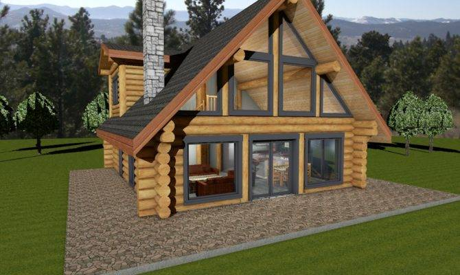 Horseshoe Bay Log House Plans Cabin Canada