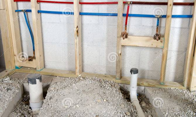 Hot Cold Running Water Plumbing Pipes