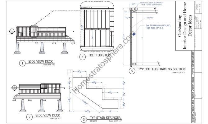 Hot Tub Deck Design Plan Pdf