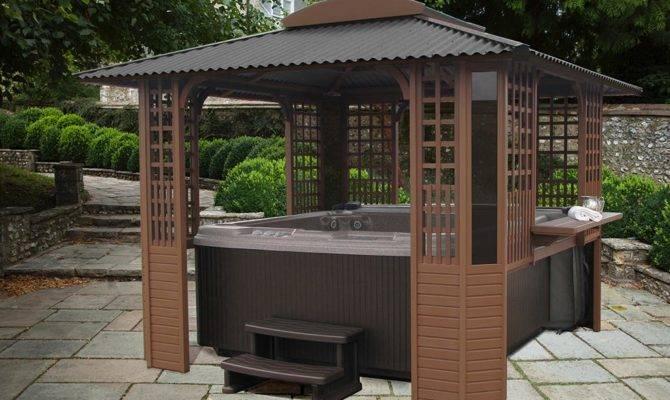Hot Tub Gazebo Plans Pergola Design Ideas