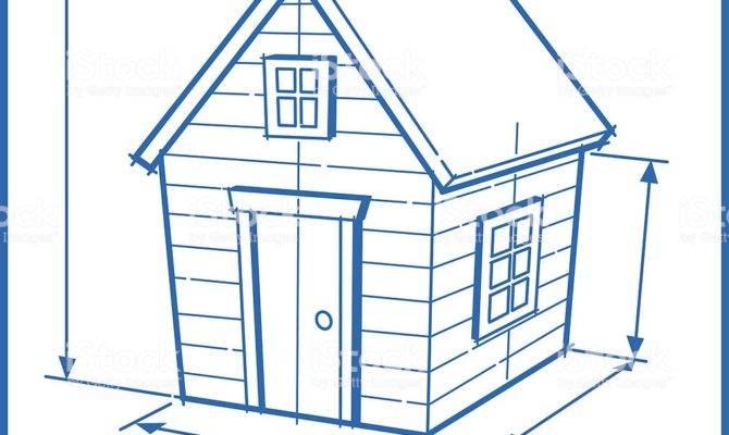 House Blueprint Cartoon Vector Art More