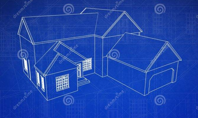 House Blueprint Illustration