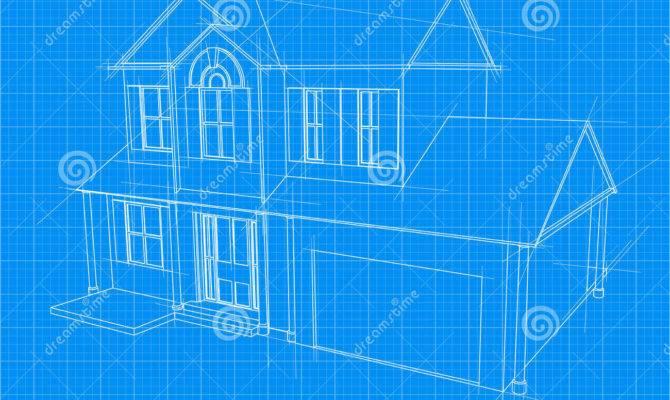 House Blueprint Vector Illustration Diagram