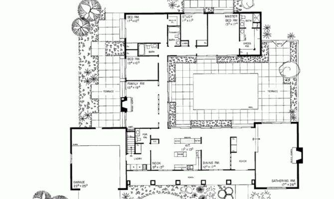 House Design Courtyard Middle Planning Houses