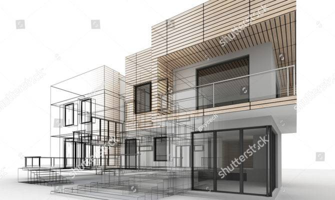 House Design Progress Architecture Drawing Visualization