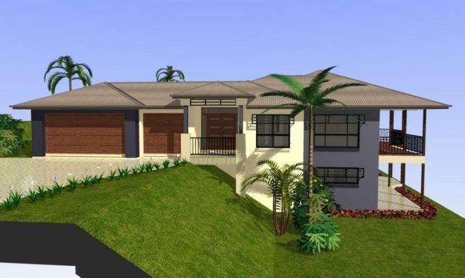 House Design Sloping Lot Homes Floor Plans
