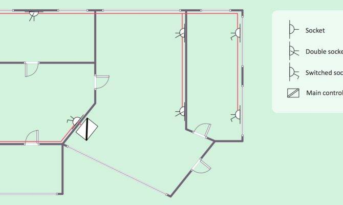 house electrical plan software diagram  house plans  42874
