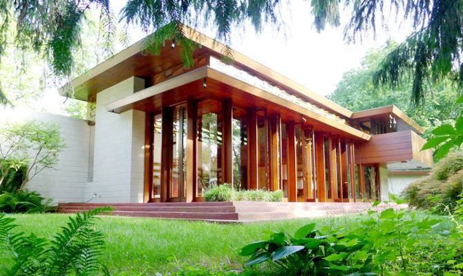 House Famous American Architect Usonian Style Architecture Natural