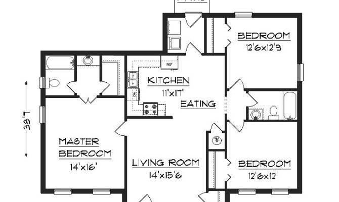 House Floor Modern Bedroom Basic Plan Home