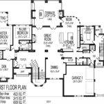 House Floor Plans Blueprints Story Bedroom Large Home Designs
