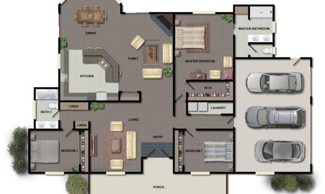 House Floor Plans Color