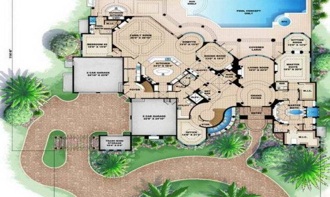 House Floor Plans Design Beach Garden