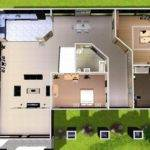 House Floor Plans Mod Sims Modern Estate Blueprints