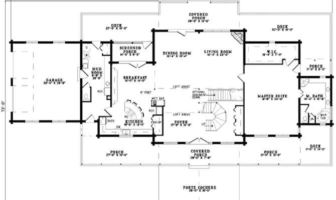 House Floor Plans Porte Cochere Home Design Style