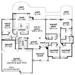 House Floor Plans Together Open Ranch Style Home Plan