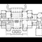 House Floors High Style Plans Manor Drawing Georgian