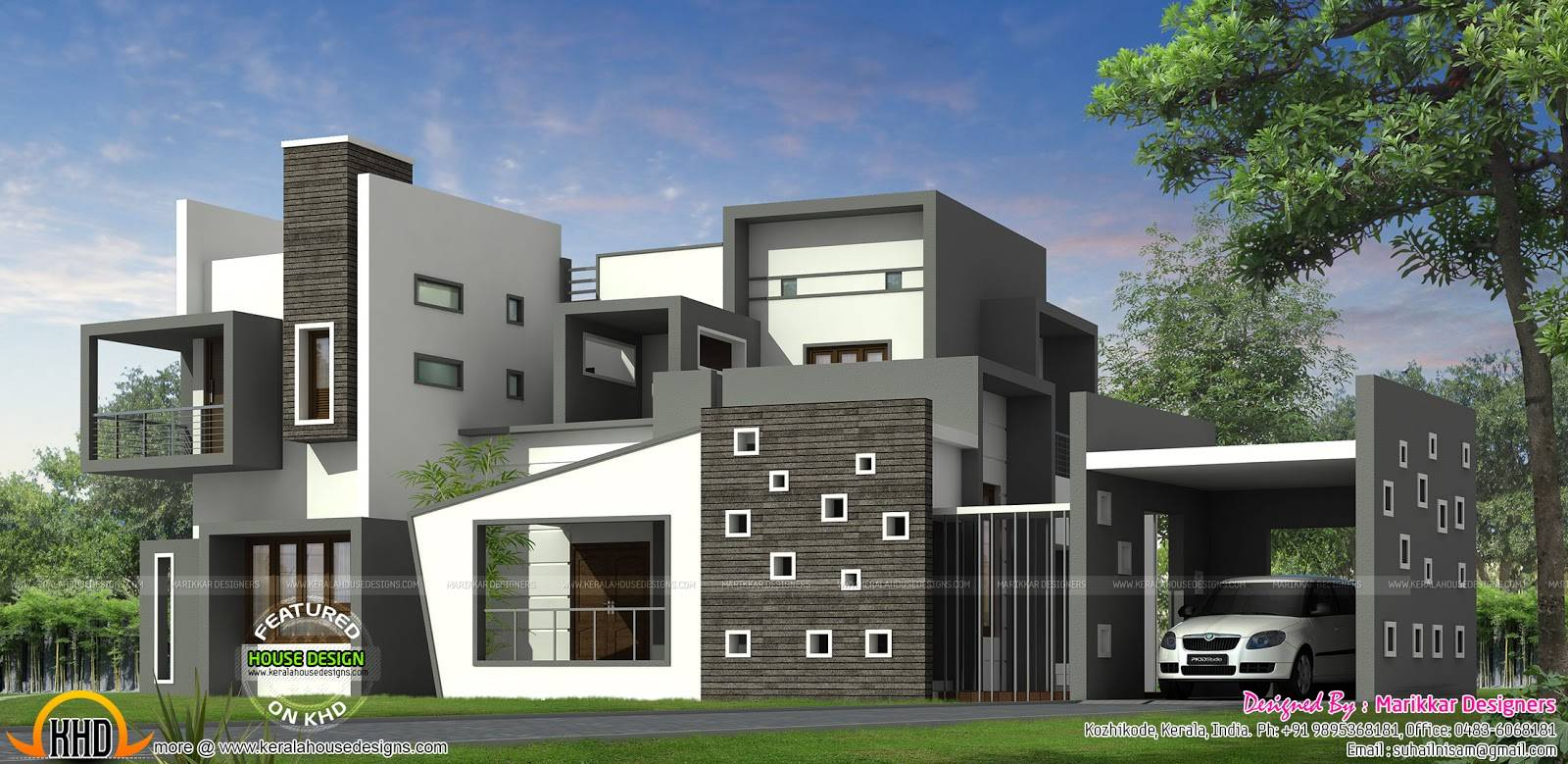 House Kerala Style Contemporary Plans Modern House Plans 126482