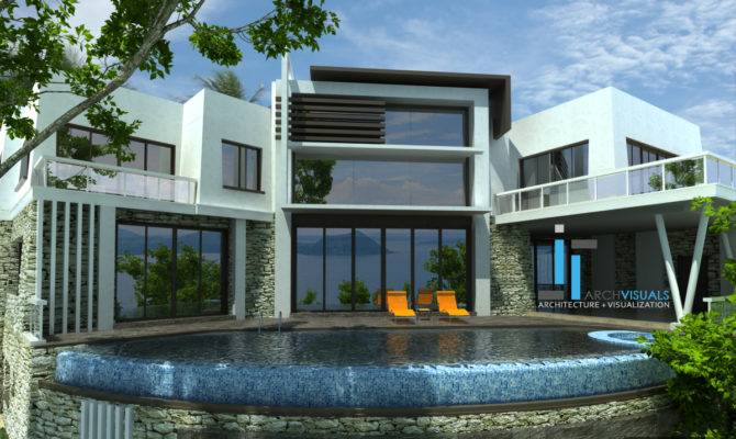 House Large Balcony Design Modern Living Room