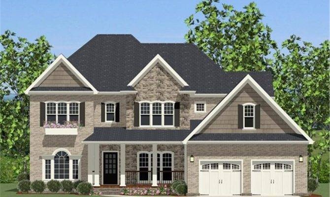 House Plan Bdrm Colonial Home