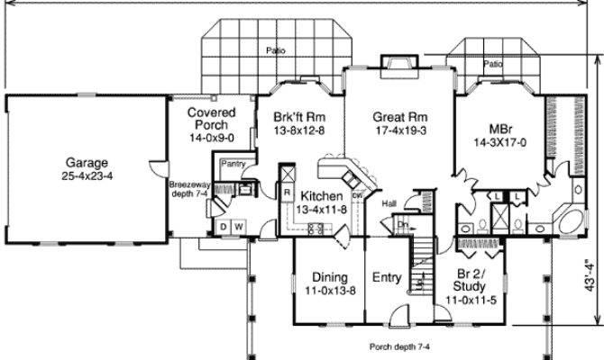 House Plan Breezeway Design Plans
