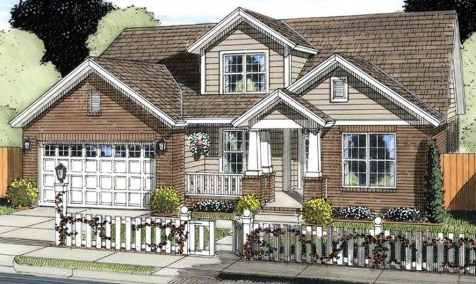 House Plan Cottage Craftsman Traditional