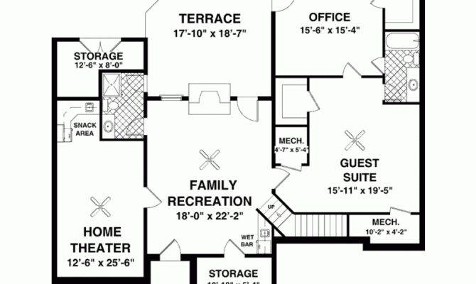 House Plan Craftsman Ranch All Luxuries Square