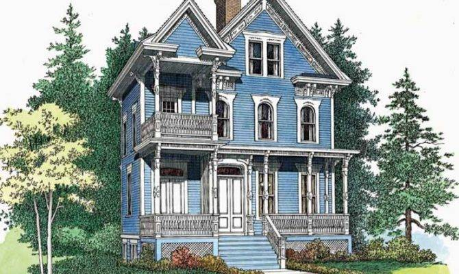 House Plan Delicate Queen Anne Victorian Square Feet