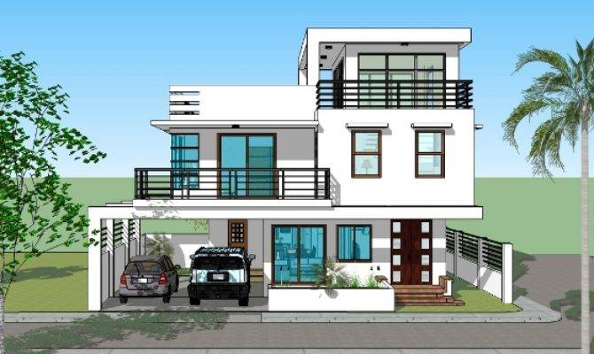 House Plan Designs Storey Roofdeck Bedroom House Plans 89638