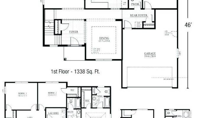 House Plan First Floor Master Bedroom