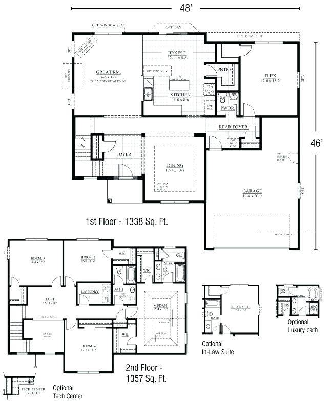 House Plan First Floor Master Bedroom House Plans 132117