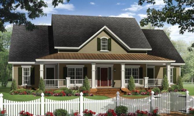 House Plan Four Bedroom Farmhouse Rear Side Load Garage
