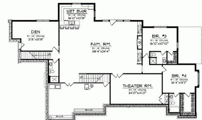 Smart Placement 4 Bedroom House Plans With Basement Ideas House Plans