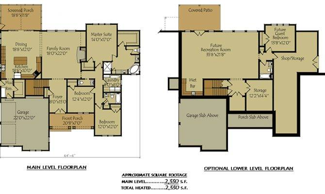House Plan Garage Optional Basement