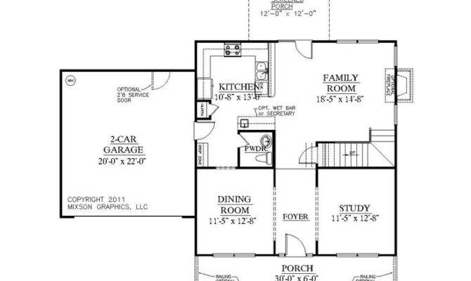 House Plan Hartwell First Floor Square Feet Wide
