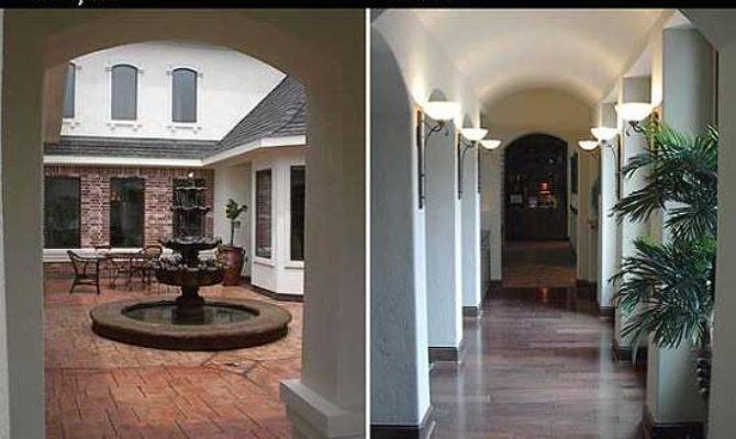 House Plan Interior Courtyard Home Design Style