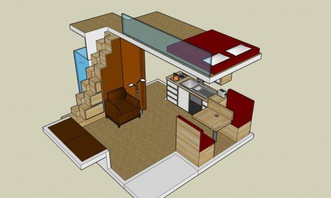 House Plan Loft Exploiting Spaces Small