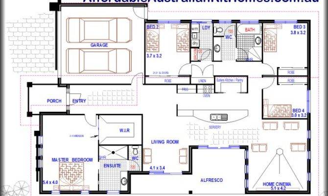 House Plan Media Room Plans Skillion Roof Design Home
