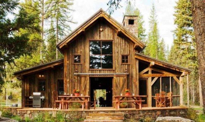 House Plan Mountain Cabin Plans Brick Elevation