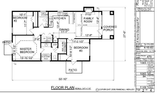 House Plan One Story Narrow Lot