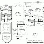 House Plan One Story Turret Square Feet Bedrooms