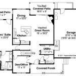 House Plan Ontario Left Elevation Craftsman