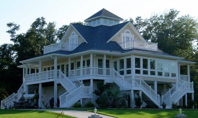House Plan Playful Coastal Cottage Getaway Wrap Around Porch