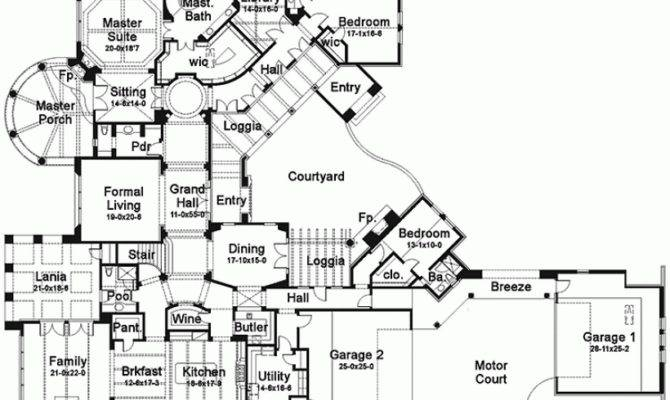 House Plan Six Bedroom Square Feet Bedrooms