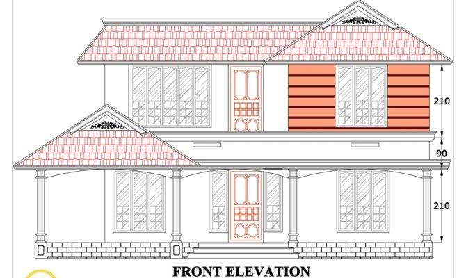 House Plan Sloping Squared Roof Kerala Home Design Floor Plans
