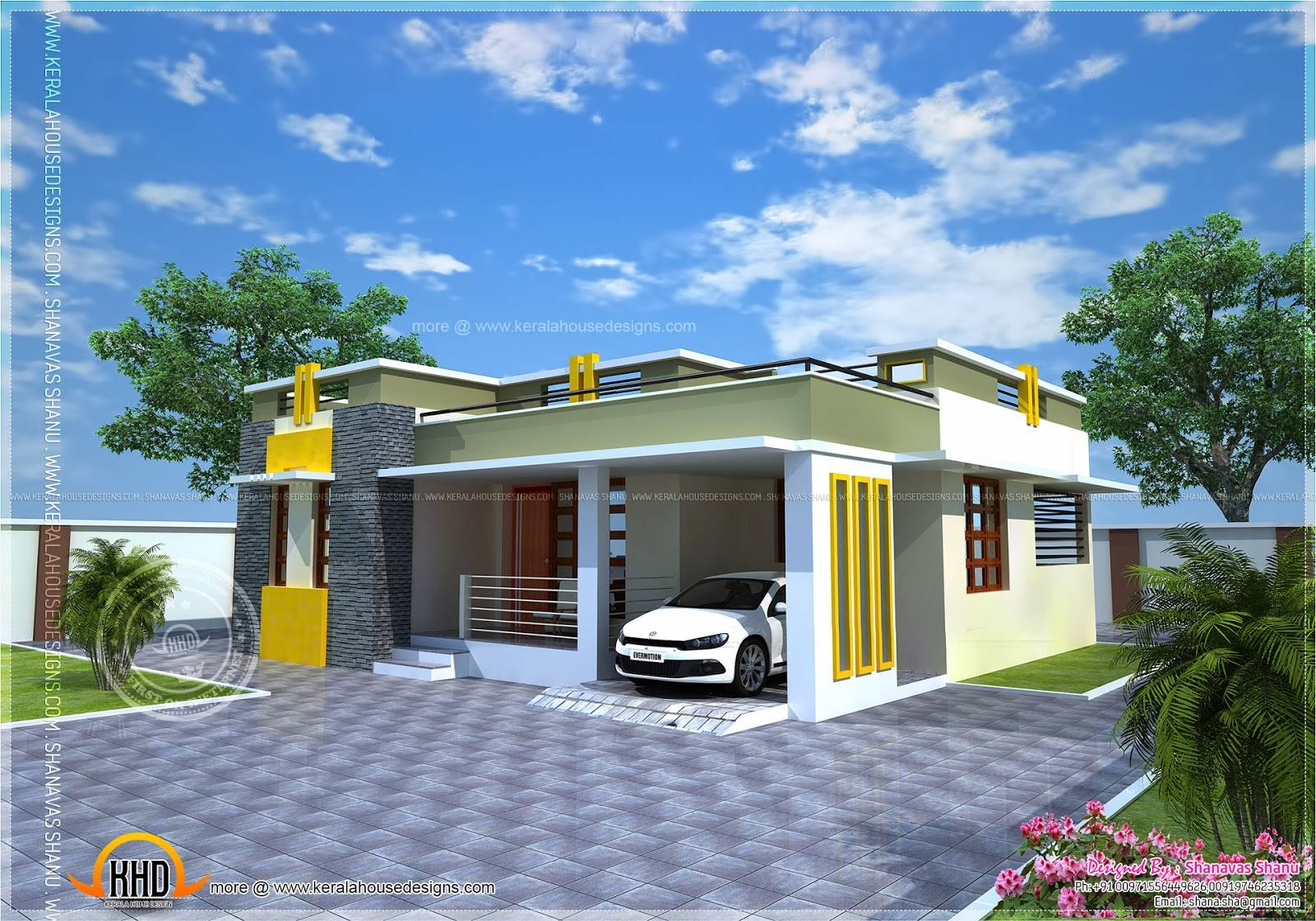 Picture of: House Plan Small Modern Villa Indian Plans House Plans 3729