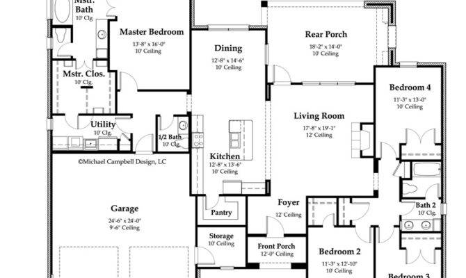 House Plan Square Feet French Country Home Style