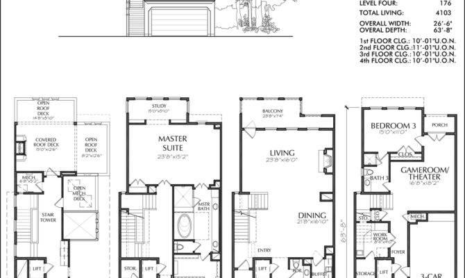 House Plan Townhome Floor Plans Designs Donald