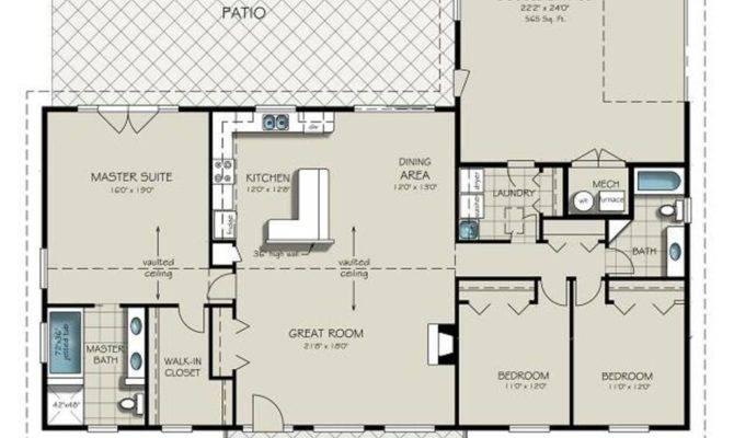 House Plans Also Bedroom Bath Ranch Floor