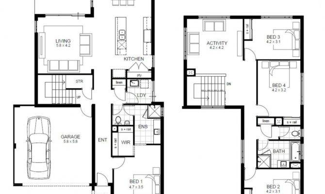 House Plans Bedroom Story Home Entertaining