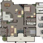 House Plans Bedrooms One Story Home Design